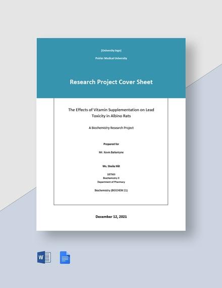 University Cover Sheet Template