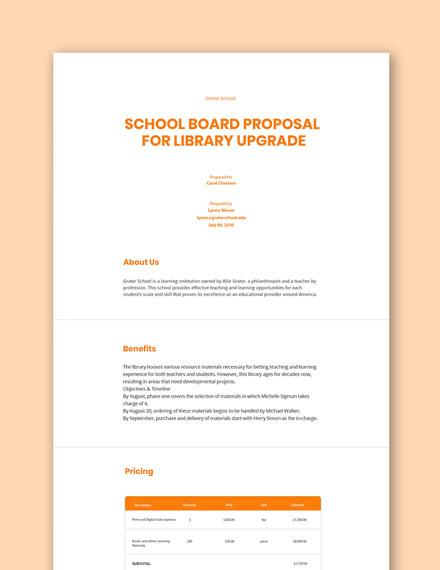 School Board Proposal Template