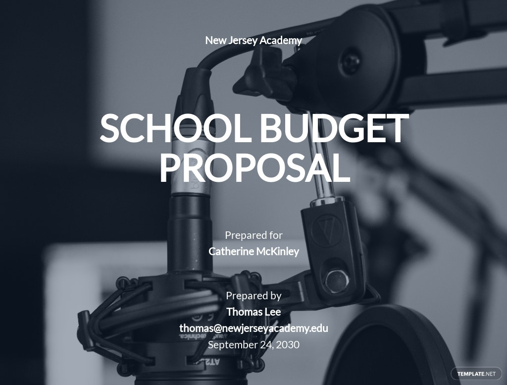 School Budget Proposal Template