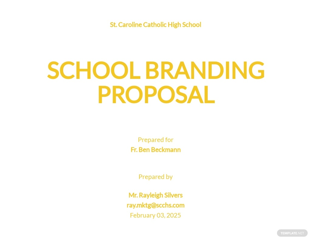 School Branding Proposal Template