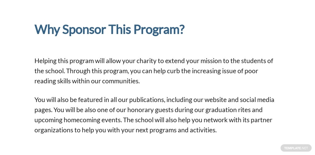 School Charity Proposal Template [Free PDF] - Google Docs, Word, Apple Pages