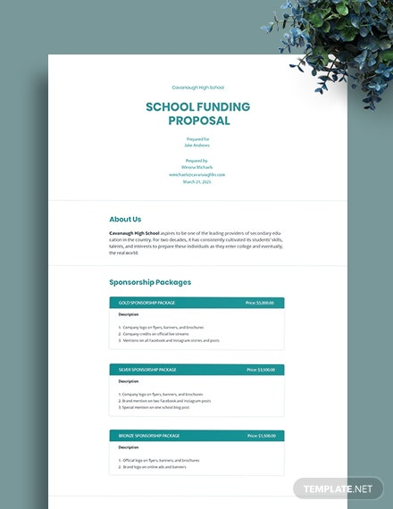 School Funding Proposal Template
