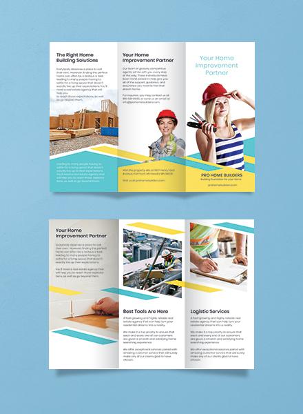 Home Builder Brochure Template