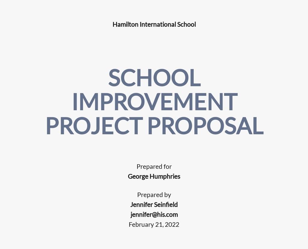 Free Sample School Project Proposal Template.jpe