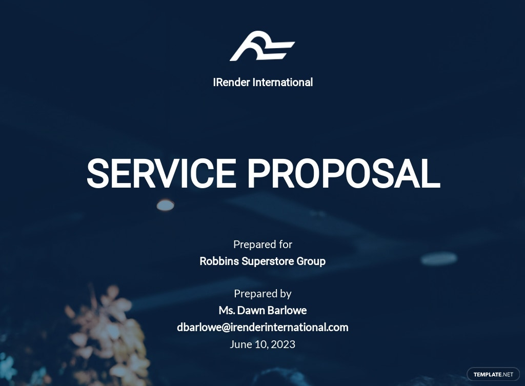 Product or Service Business Proposal Template
