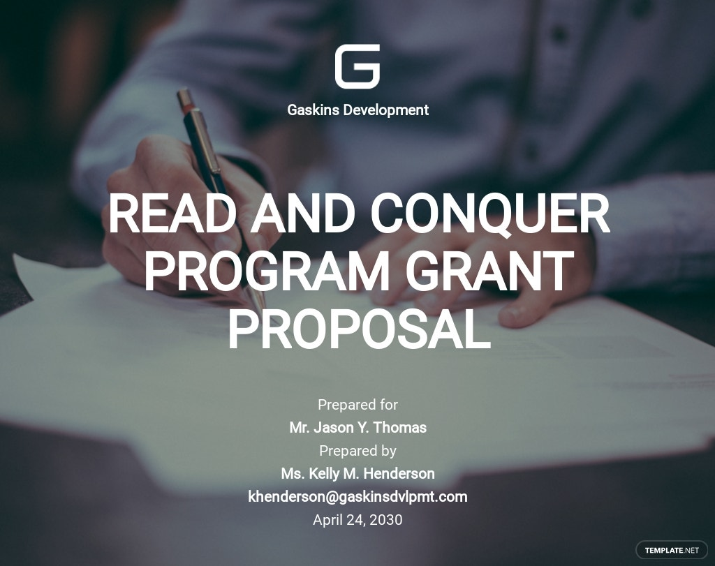 Non-Profit Grant Proposal Sample Template