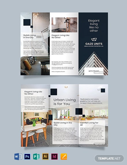 Free Real Estate Property Brochure Template