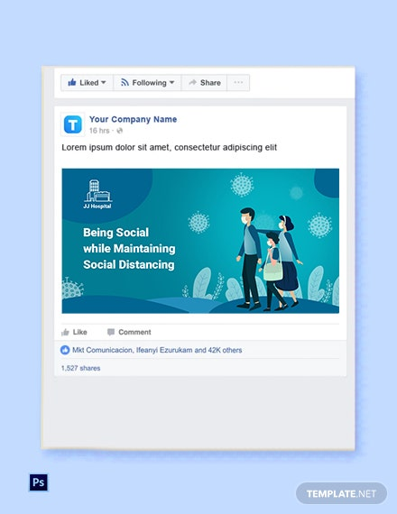 Free Coronavirus (COVID-19) Social Media Banner Template