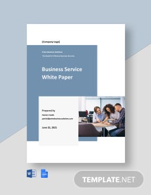 Business Service White Paper Template