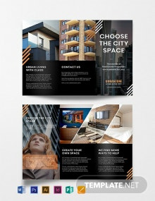 Free Urban Real Estate Brochure Template
