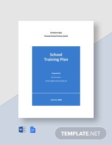 School Training Plan Template