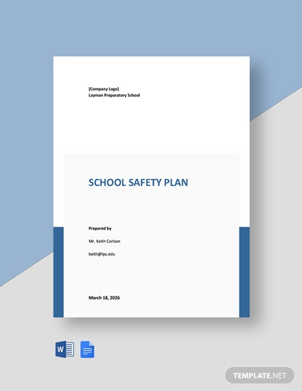 School Safety Plan Template