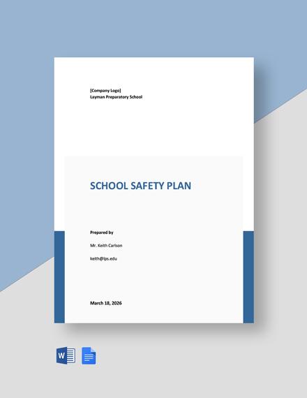 School Safety Plan Template