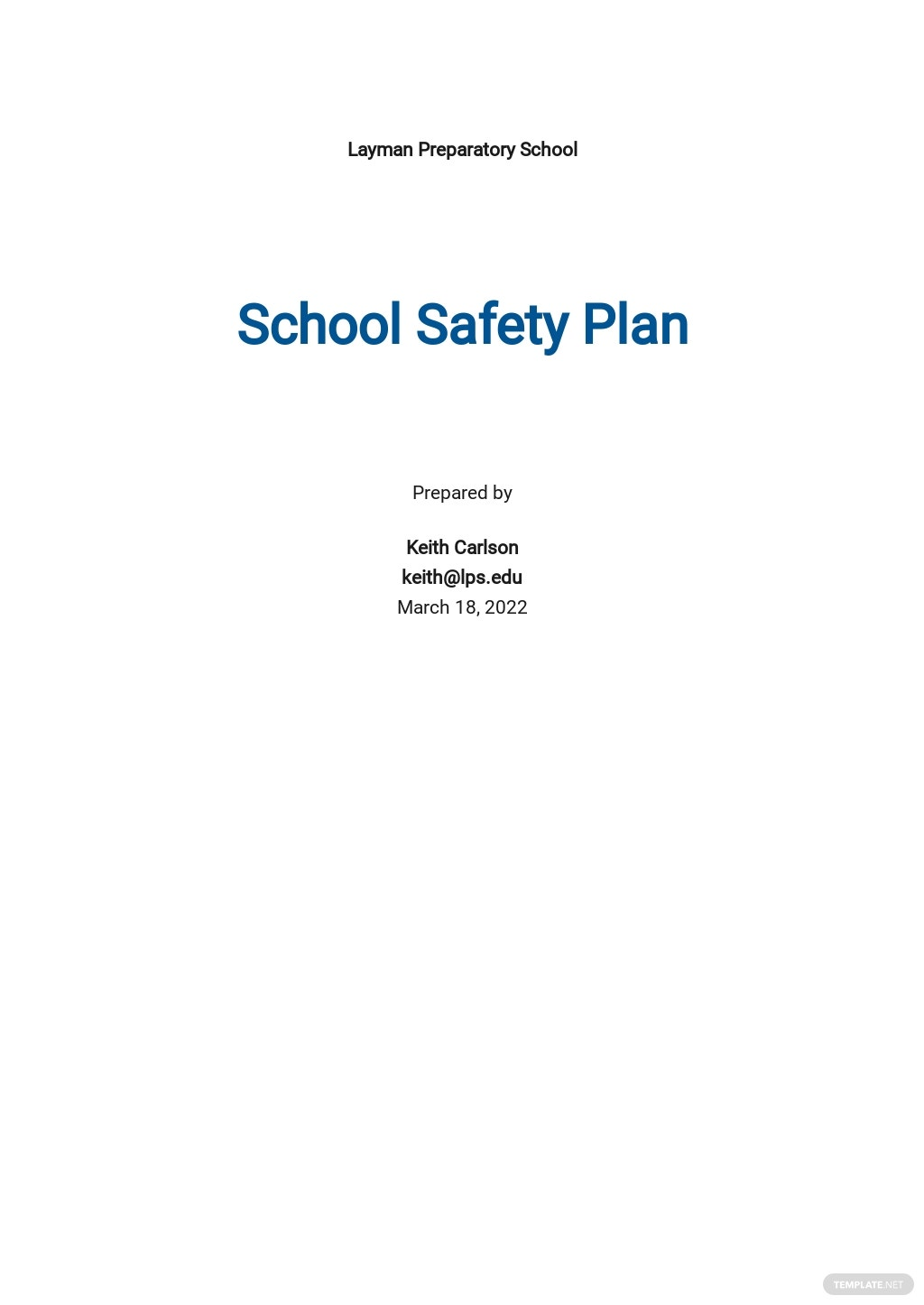 School Safety Plan Template.jpe