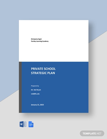Private School Strategic Plan Template