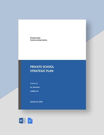 Private School Strategic Plan