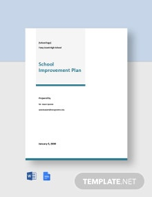 School Improvement Plan Template