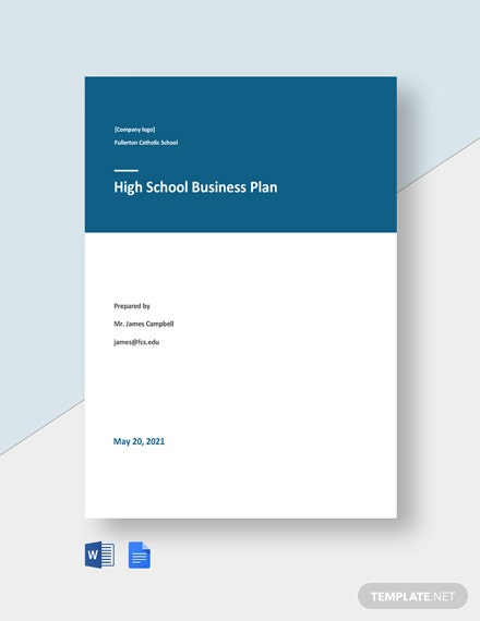 High School Business Plan