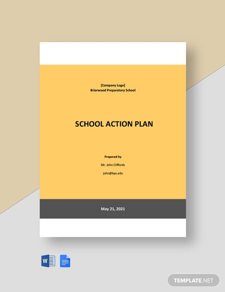Free Sample School Action Plan Template