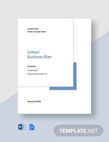 Free Basic School Business Plan Template