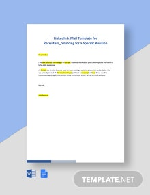LinkedIn InMail Template for Recruiters_ Sourcing for a Specific Position Template