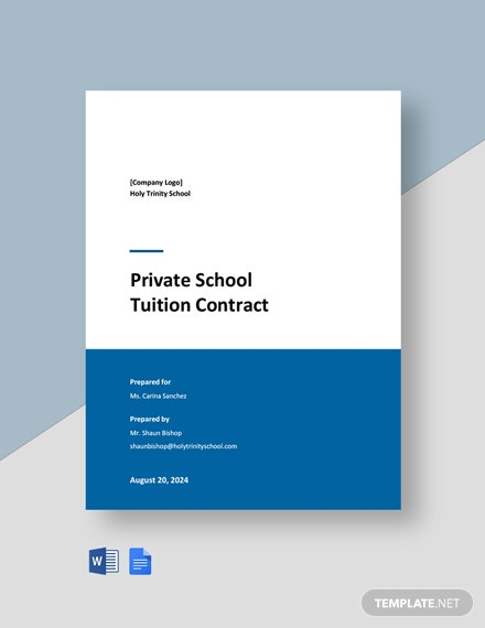 Private School Tuition Contract Template