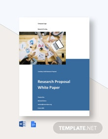 Research Proposal White Paper Template