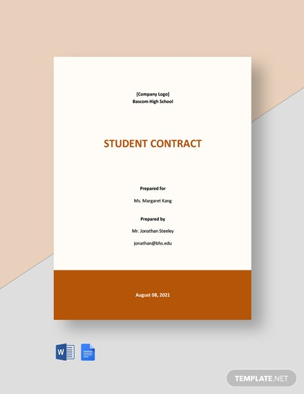 Free School Contract Template