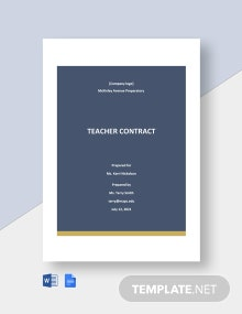 Free Basic School Contract Template