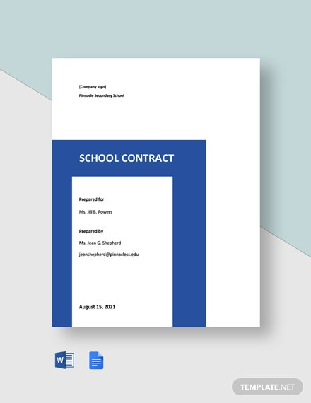 Free Simple School Contract Template