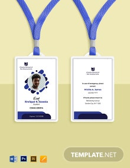 Music School ID Card Template