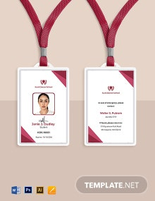 Dance School ID Card Template