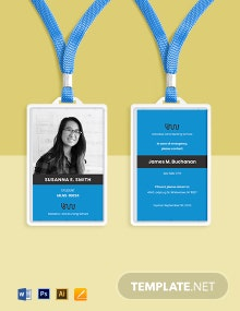 Nursing School ID Card Template