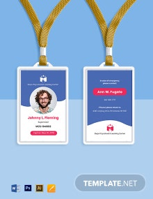 Play School ID Card Template