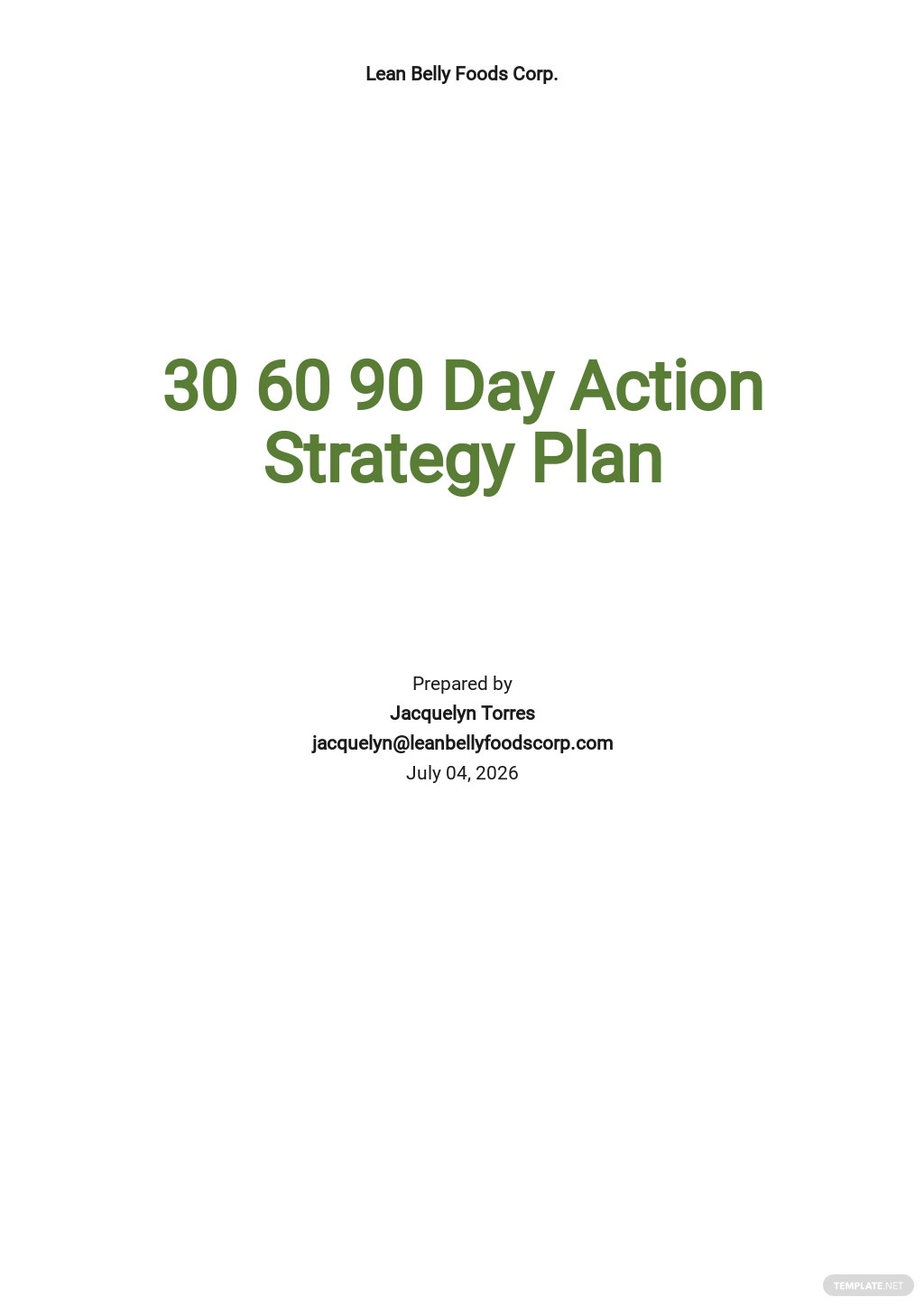 30 60 90 Days Action Plan Strategy Template [Free PDF] - Google Docs, Word, Apple Pages
