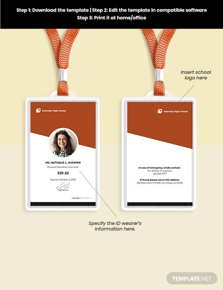 Free Modern School ID Card Guide