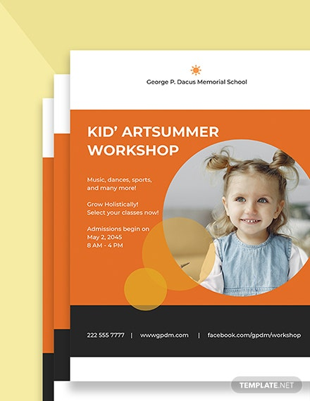 Kids School Flyer Template Printable