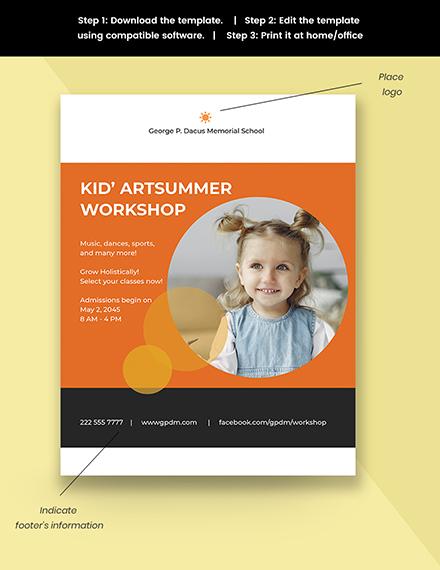 Kids School Flyer Template Snippet
