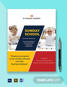 Sunday School Flyer Template