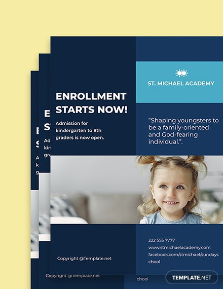 Free Elegant School Flyer Template Printable