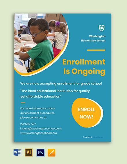 Free Creative School Flyer Template