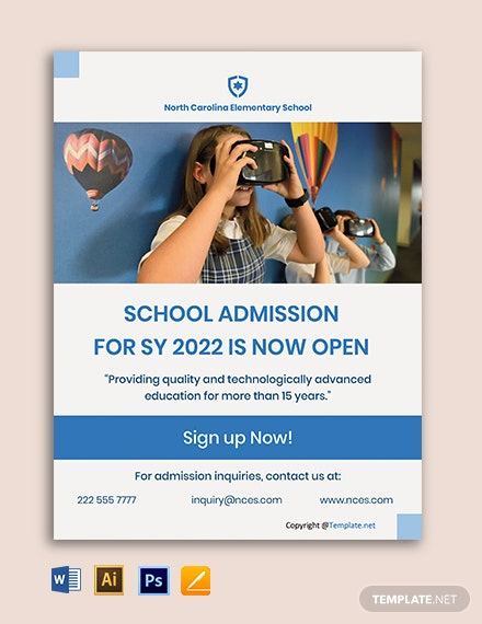 Free Modern School Flyer Template
