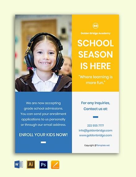 Free Simple School Flyer Template