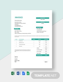 Music School Invoice Template