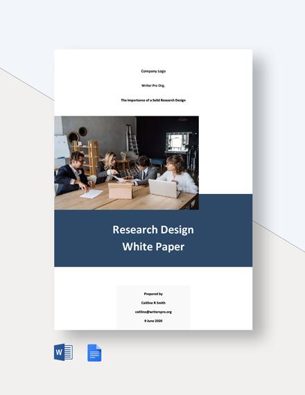 Research Design White Paper Template