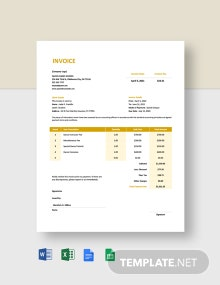 Dance School Invoice Template