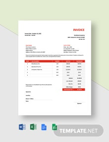 School Fees Invoice Template