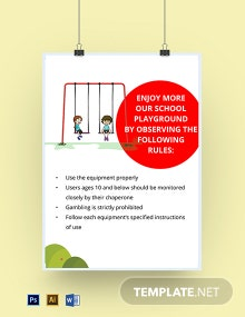 School Playground Signs Template