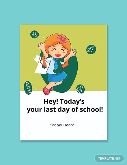 Last Day of School Sign Template Printable