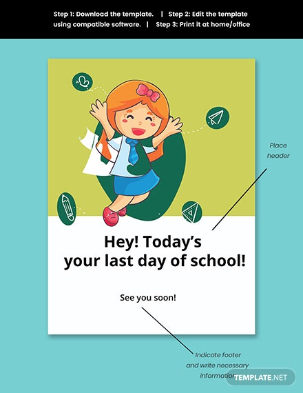 Last Day of School Sign Template Snippet